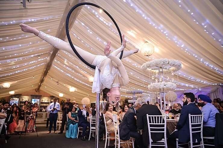 Freestanding Aerial Hoop | Indian Wedding