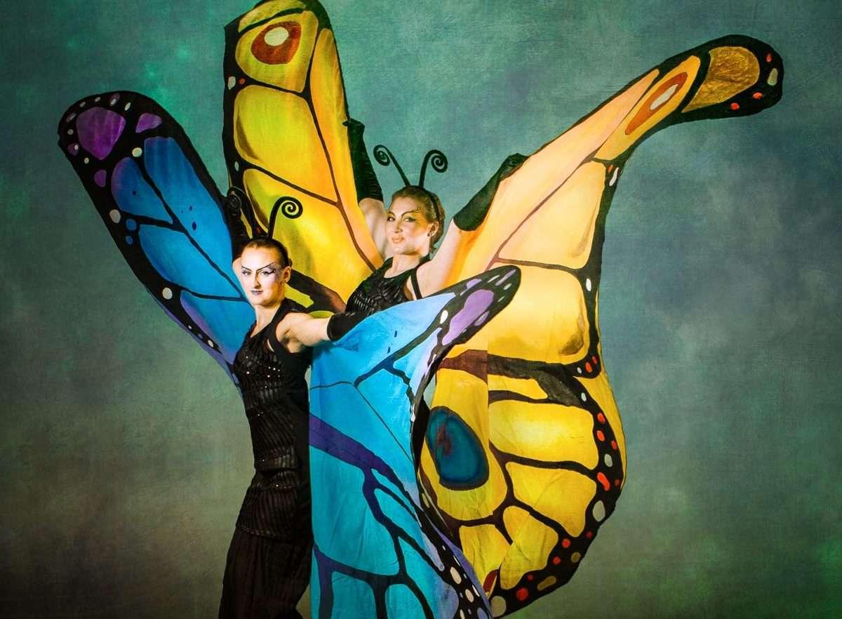 Butterfly Stilt Walkers