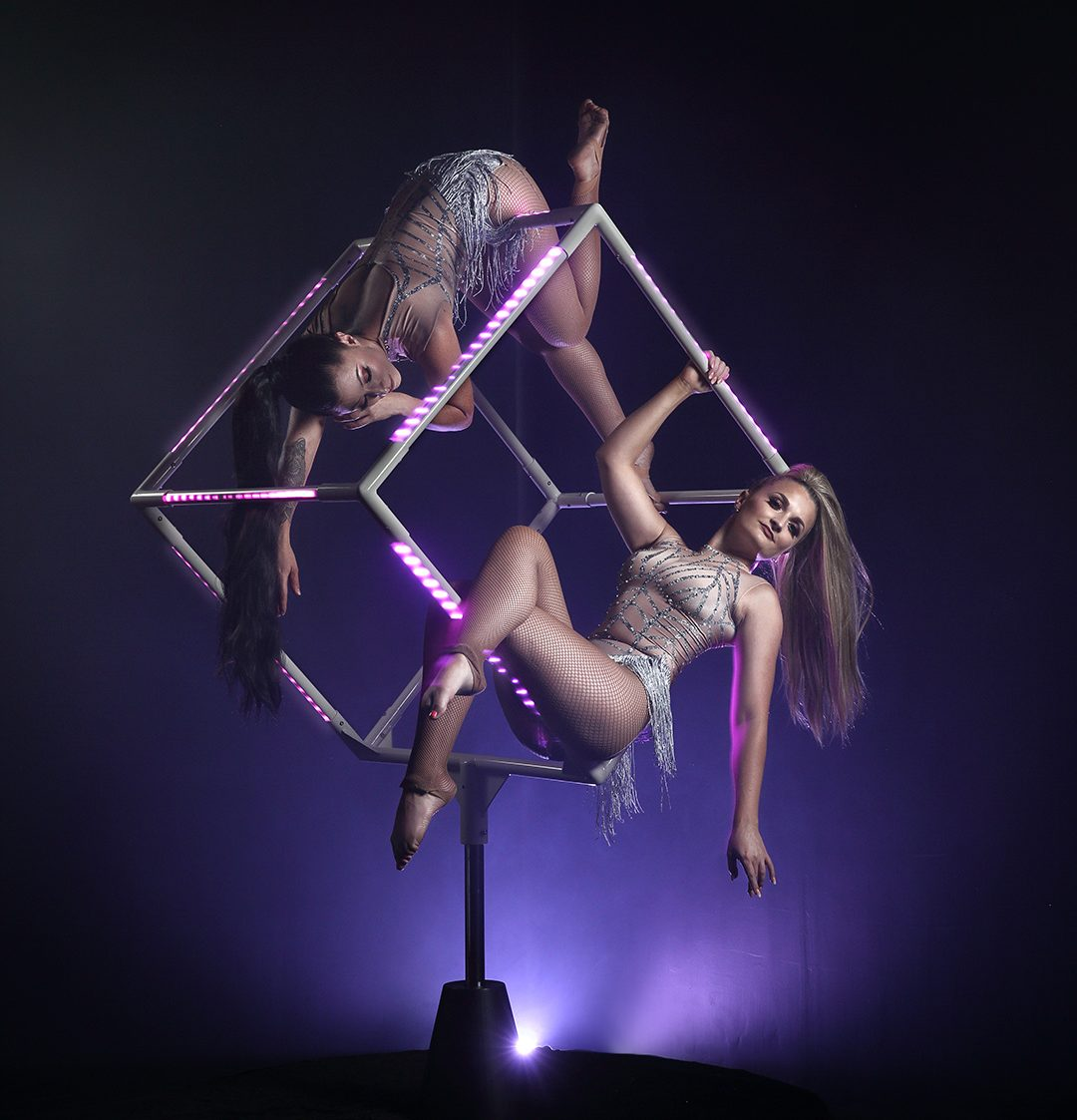 Freestanding LED Aerial Cube